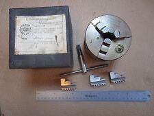 "4"" Bison 3 Jaw Lathe Chuck 1"" x 10 TPI 2 Sets of Jaws #3284 Atlas Craftsman 6"""
