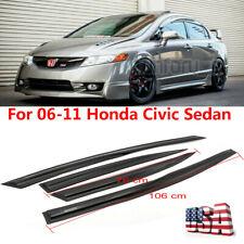 Fits 06-11 Honda Civic 4drs Sedan Slim Style Window Rain Guard Visors JDM 4PCS