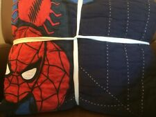 Pottery Barn Kids Spider-Man Navy Twin Quilt - New Nla