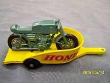 LESNEY MATCHBOX 38C HONDA MOTORCYCLE & TRAILER ~ LARGE LETTERING ~ NEAR MINT  !