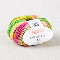 CHROMATIC KATIA 100% Baumwolle Multicolor Baumwollgarn Farbverlauf 60 Vegan