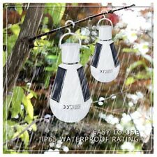 Portable 7W Solar Panel Powered LED Light Bulb For Outdoor Camping Lamp