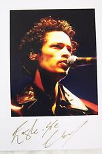 Hand signed photo of Eagle Eye Cherry 9.9 x 8 inches mounted, by Mel Longhurst