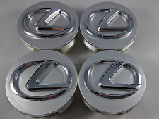 Set of 4 LEXUS Center Wheel Center Hub Rim Caps 62MM Chrome Silver IS GS ES RX