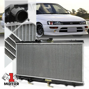 Aluminum Radiator OE Replacement for 93-97 Geo Prizm/Toyota corolla 1.6 1.8 I4