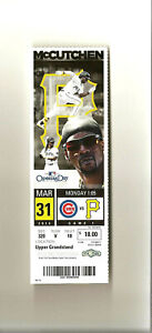 Pittsburgh Pirates 3/31/2014 Opening Day Full Ticket Stub Neil Walker WalkOff HR