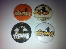 4 Tiswas button badges 25mm cult retro 80s 90s kids TV UK USA