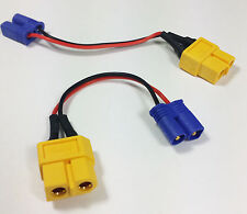 XT60 Female to EC2 Male-  Losi Charge Lead Adapter LiPo/Battery/SCT/8ight/10-T
