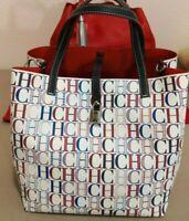 NWT Carolina Herrera Matryoshka Lock canvas Tutti Frutti CH Shoulder & Handbag