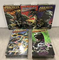Vintage Brand New! Godzilla VHS Lot Of 5 King Of Monsters, Versus Mothra Revenge