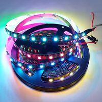 5M 30Pixels/M WS2812B Black 5050 RGB LED Strip Light Individually Addressable 5V