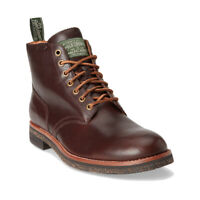 Polo Ralph Lauren Men's Army Boots Brown Leather Size 8