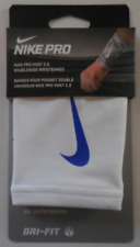 Nike Pro Hunt 2.0 Doublewide Wristbands White/Game Royal Mens Women's