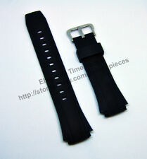 20mm Black Rubber watch band / strap compatible for Casio EF-552 , EF-552PB