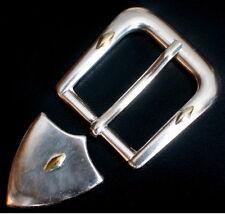 180cfc27df4655 Gürtelschnalle NEU für 3cm breite GÜRTEL Farbe: Silber m. Gold + SPITZE  Metall