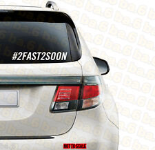 RIP Paul Walker The Fast and The Furious 2fast2soon Vinyl Decal Sticker JDM ill