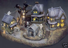 Ceramic Bisque Ready to Paint large Haunted Village (electric kit included)