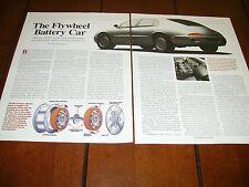 1994 FLYWHEEL BATTERY CAR ELECTRIC VEHICLE CONCEPT  ***ORIGINAL ARTICLE***