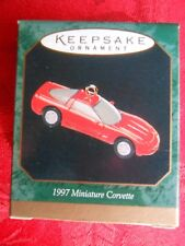 HALLMARK 1997 Chevrolet Red CORVETTE MINIATURE Christmas ORNAMENT-NIB+pt