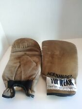 Vintage Tuf Wear Tan Leather Speed Bag Training Gloves Size Xl Boxing
