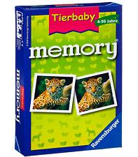 RAVENSBURGER 23013 - Tierbaby Memory Spiel, Merkspiel für Tierfans NEU