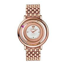 Versace Women's VQV100015 Venus Red Topaz Rose-Gold IP Stainless Steel Watch