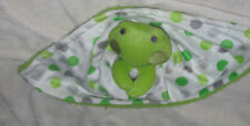 Little Beginnings Baby Boys Security Lovey Blanket Layette Green Frog Polka Dot