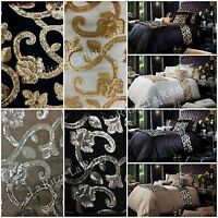 New luxury duvet cover sets with pillowcases double super king single sequence