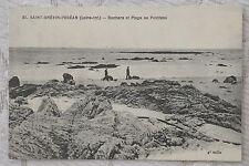 """CPA """" SAINT BREVIN L'OCEAN - Rochers et Plages au Pointeau"""