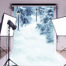 Winter Snow Scenic Forest Trees Photography Background 5x7ft Photo Backdrop Prop
