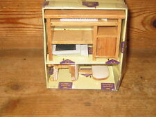 BOXED HICKLETON COLLECTION WOODEN COMPUTER DESK CHAIR KEYBOARD SCREEN  HARDDRIV