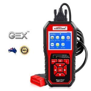 Car Vehicle Engine Fault Diagnostic Scanner Code Reader Colour Screen OBD2 KW850