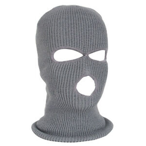 3 Hole Balaclava Beanie Hat Outdoor Full Face Mask Cap Hood Warmers Tactical Hat