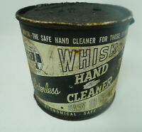 VINTAGE Mid Century WHISK HAND CLEANER Tin Can Closed Lid DIRTY