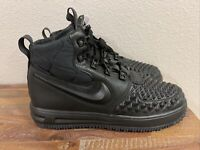 Nike Lunar Air Force 1 Duckboot '17 Shoes Black 922807-001 Size 7Y/ Women's 8.5