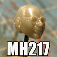 """MH217 Custom Cast Male head for use with 3.75"""" GI Joe Star Wars Marvel figures"""