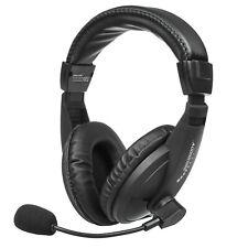 On Ear Kopfbügel USB Kopfhörer Headset mit Mikrofon Gaming für PC Laptop PS Xbox