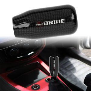 Universal BRIDE Black Real Carbon Fiber Manual Gear Stick Shift Knob Shifter