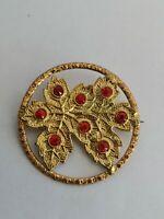 Art Deco rhinestone brooch