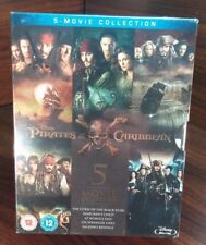 Pirates of the Caribbean 1-5 Movie Collection(Bluray Boxset)NEW-Free Shipping