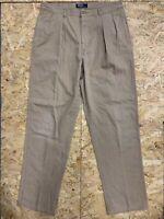 POLO Ralph Lauren Men's Vintage Trousers Pants Chinos W36 L34 Beige Khaki