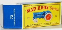 Matchbox Lesney 72 Fordson Tractor empty Repro D style Box