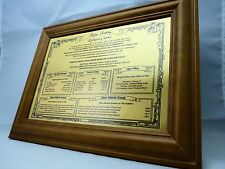 PERSONALIZZATO REGALO DI COMPLEANNO -21 ST, 30, 40, 50, 50, 70º, in metallo spazzolato