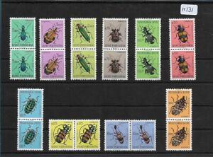 SMT, 1953, GUINE PORTUGUESA, Mi 281/90, Beetles set in paire, MNH lot 2
