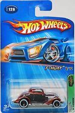 Hot Wheels '34 3-Window 2005 T-Hunt #G6741 New Nrfp Flat Brown 1:64