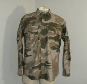 Cabela's Men's Medium Original Microtex Outfitter Camo Button Down Shirt EUC