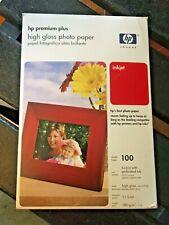 HP Premium Plus Photo Paper 4x6 100 Sheets Inkjet OPENED Box High Gloss + 50 Mat