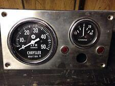 vintage stewart warner tachometer alt gauge 4 cyl Boat Chrysler Marine div 1966