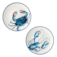 English Tableware Co. Dish of the Day Set of 2 Side Plates Ocean Fish Blue