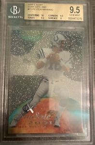 1998 Skybox E-X2001 Stardate Peyton Manning Rookie #15 BGS 9.5 Gem Mint Colts